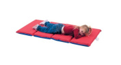 Children s Factory CF400-508RB Red- Blue 4 Section- 2.5cm . Thick Infection Control Mat