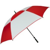 FJWestcott 8507 Double Canopy Hurricane 160cm . Manual Open Golf Umbrella - Red and White