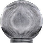 Polymer Products 3202-51630 Sphere 15cm . Prismatic Clear Acrylic Replacement Globe Pack Of 6