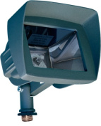Dabmar Lighting LV105-HOOD-G Cast Aluminium Directional Area Flood Light with Hood Green