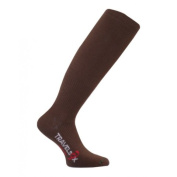 Travelsox TS 1000 Patented Graduated Compression OTC Flight Travel Socks Brown - Large