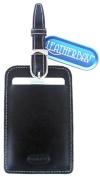 Leatherbay 13102 Leather Luggage Tag Black