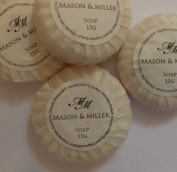 10 x Mason & Miller Tissue Pleated Guest Soaps