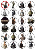 24 The Walking Dead Edible Wafer Paper Cup Cake Toppers