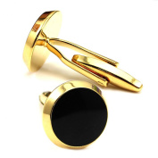 Gold Round Men's Jewellery Shirt Button Gift Party Cuff Link High Quality Cufflink