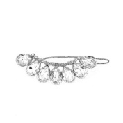 Glamorousky Glistering Barrette with Silver. Element Crystal