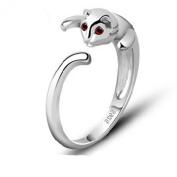 findout ladies 925 sterling silver cute cat open rings , for women girls