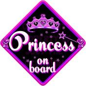 MIDNIGHT JEWEL PRINCESS Baby on Board Car Window Sign