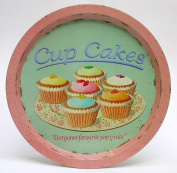 Martin Wiscombe Tin Cup Cakes Tin Tray, Assorted