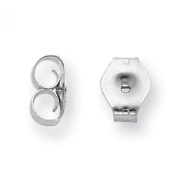 PARIKHS Pair of Friction Earring Backs (Medium Ear nuts) Replacement back-findings in 14k White & Yellow Gold