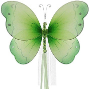 The Butterfly Grove Briana Butterfly Curtain Tieback for Baby, Green Honeydew, Small/18cm x 15cm