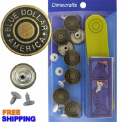 Blue Dollar America Jean Tack Buttons