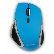 Verbatim Wireless Laptop 6-Button Deluxe LED Mouse, Blue