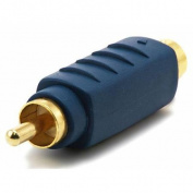 S-Video (VHS) Male to RCA Male Adapter - Gold Plated