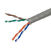 300m 24AWG Cat5e 350MHz UTP Stranded, In-Wall Rated (CM), Bulk Ethernet Bare Copper Cable - Grey