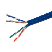 300m 24AWG Cat5e 350MHz UTP Stranded, In-Wall Rated (CM), Bulk Ethernet Bare Copper Cable - Blue