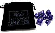 Pearlescent Purple Poly RPG Dice Set and Bag