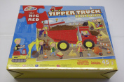 THE BIG RED TIPPER TRUCK FLOOR PUZZLE GRAFIX BRAND 45 PCE