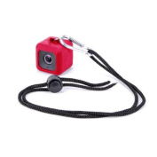 Minisuit Pendent Case for Polaroid Cube HD with Necklace Lanyard and Carabiner Clip - Red
