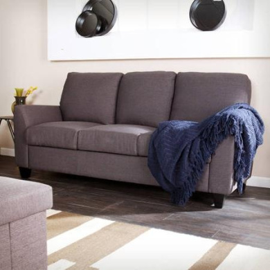 Holly & Martin Plushen Sofa, Anthracite