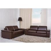 Gold Sparrow Hampton 2 Piece Leather Sofa Set in Coffee