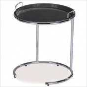 Leick Favourite Finds Tray Top Sofa Server Table in Black