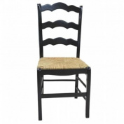 Carolina Chair and Table 375-AB Ant. Black Florence Ladder Back Chair