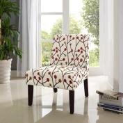 Teagan Armless Accent Chair, Floral Pattern