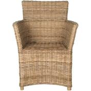 Safavieh Natuna Arm Chair, Kubu Split Soft Grey