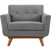 Modway Engage Upholstered Armchair, Expectation Grey