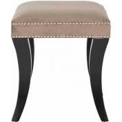 Safavieh Diva Ottoman with Silver Nail Heads