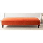 Safavieh Harlow Lounging Bench, Pumpkin Orange