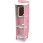 Legare Kids Furniture 3-Shelf Bookcase, Pink and White