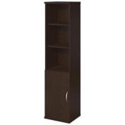 Bush BBF Series C Elite 18W Bookcase with Doors in Mocha Cherry