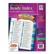 Avery Double Column Index Divider - Printed - 22cm X 28cm - 32 / Set - Multicolor Tab