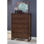Modus Furniture Uptown 5-Drawer Chest, Truffle