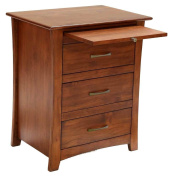 A-America Grant Park 3 Drawer Nightstand