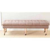 Safavieh Barney Bench with Brass Nail Heads, Multiple Colours