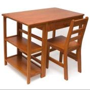 Lipper Writing Workstation Desk & Chair - Pecan