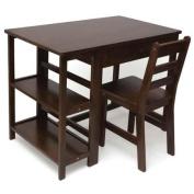 Lipper Writing Workstation Desk & Chair - Walnut