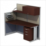 Bush BBF Office-in-an-Hour L-Workstation with Storage in Hansen Cherry