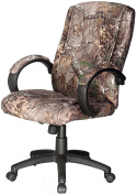 Comfort Products Realtree Camouflage Padded Microfiber Fabric Executive Chair