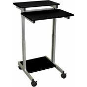 Luxor Stand Up Adjustable Workstation, Black