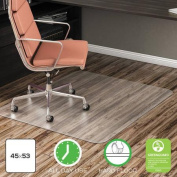 deflecto EconoMat Anytime Use Chair Mat for Hard Floor, 110cm x 130cm , Clear