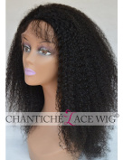 Chantiche Jerry Curl Lace Front Silk Top Wigs for African American Women 100% Indian Remy Human Hair Full Wigs With Baby Hair 130 Density Medium Size Cap 41cm #1B