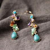 Lvxuan New Styles 2015 Fashion Women Jewellery Water Drop Elegant Multicolor Earrings