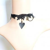 Lvxuan Hot Vampire Gothic Black Velvet Choker Necklace Vinatge Red Butterfly Choker Black Fascinator Party Jewellery Gift