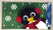 Holiday Decor Handcarved Penquin Holiday Accent Rug ~ 46cm x 80cm