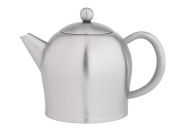 bredemeijer Santhee Double Walled Teapot, 1.4-Litre, Stainless Steel Satin Finish with Satin Accents