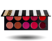 10 Creamy and Highly Pigmented Professional Cream Lipstick Palette Makeup Kit Set Pro High-end Formula